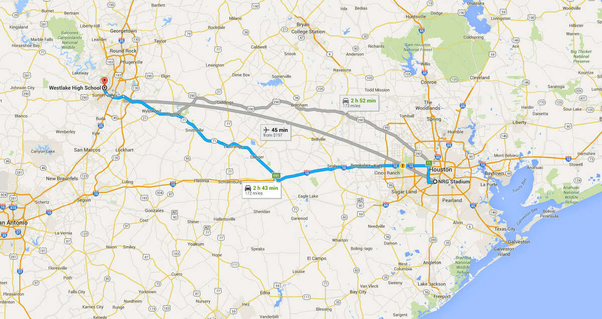 Westlake High School (172 miles) vs. North Shore High School (21 miles) 4 p.m., Saturday, Dec. 19