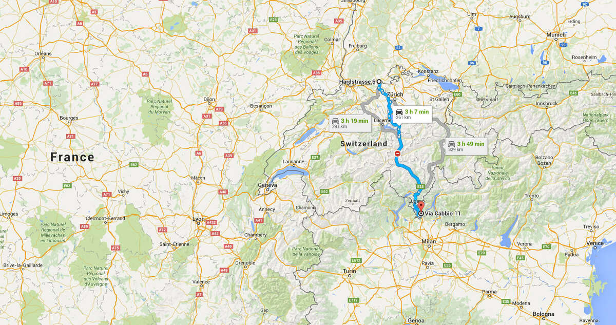 Westlake High School to NRG Stadium: 172 miles Trip across Switzerland: 162 miles