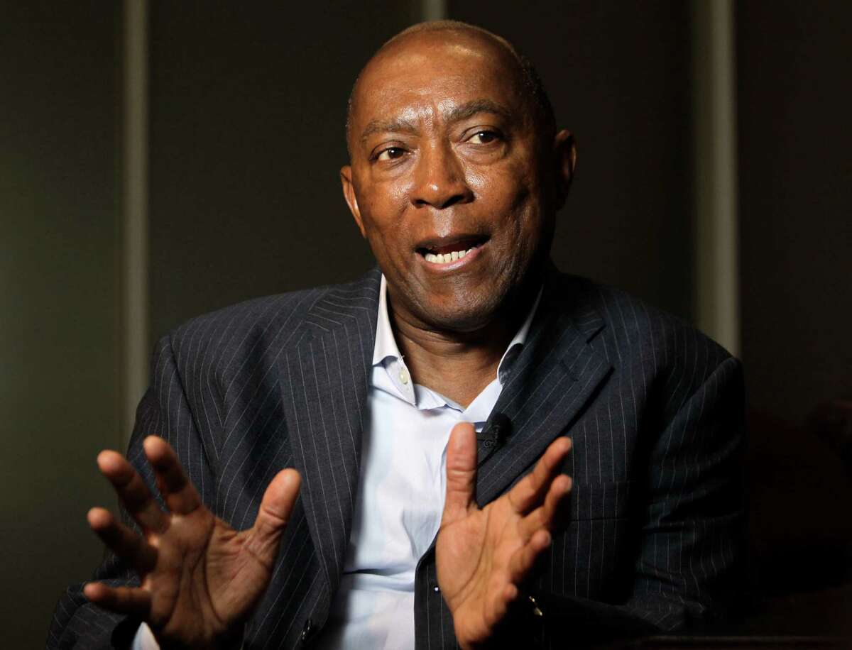 City of Houston mayor-elect Sylvester Turner speaks during an interview Sunday, Dec. 13, 2015, in Houston.