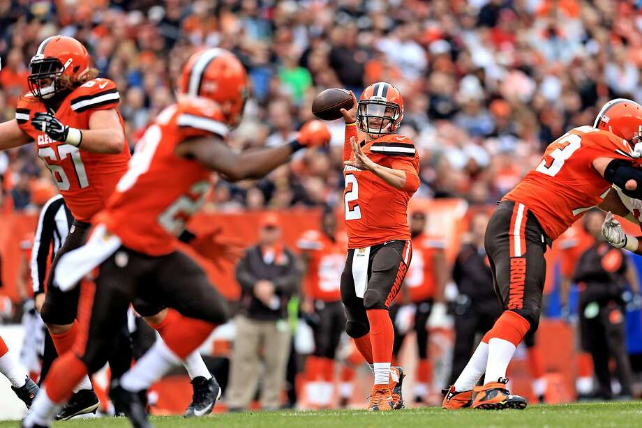 At times, Cleveland quarterback Johnny Manziel seemingly had all day to throw, with no 49er even in the picture. Photo: Andrew Weber, Getty Images