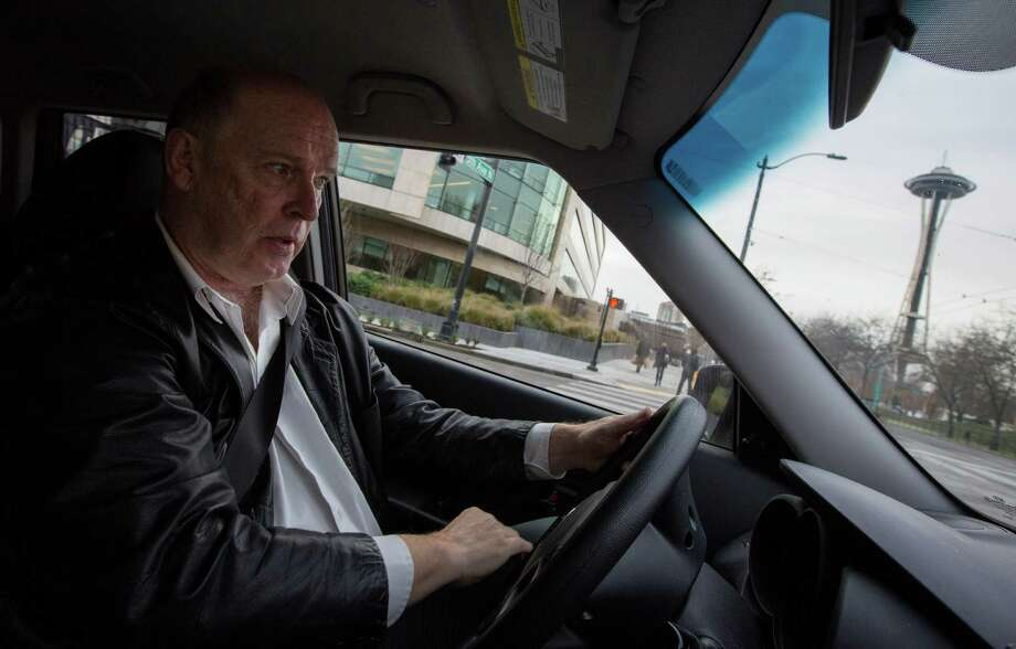 Don Creery drives for both Uber and Lyft in Seattle and belongs to the App-Based Drivers Association. Photo: Ruth Fremson /New York Times / NYTNS