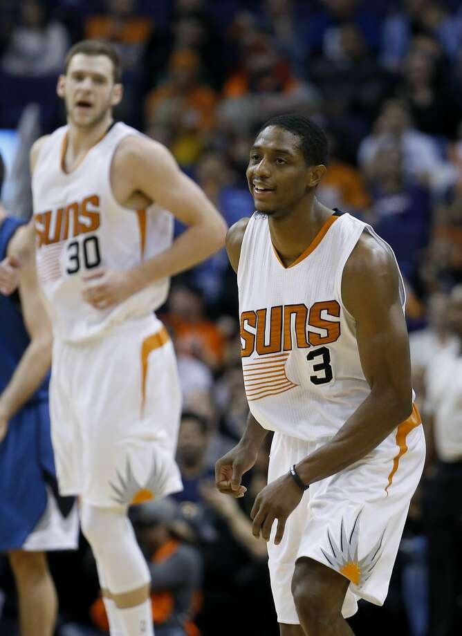 Brandon Knight smiles after making a three-pointer. Photo: Ross D. Franklin, Associated Press