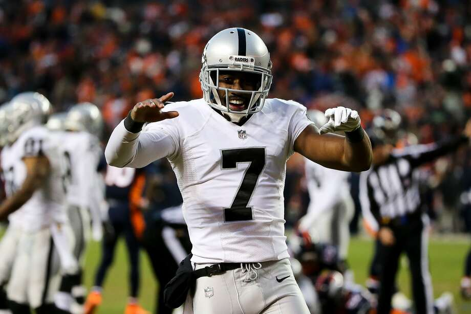 DENVER, CO - DECEMBER 13:  Punter Marquette King #7 of the Oakland Raiders celebrates after the Raiders recovered a fumble on a punt return attempt in the fourth quarter of a game at Sports Authority Field at Mile High on December 13, 2015 in Denver, Colorado. (Photo by Doug Pensinger/Getty Images) Photo: Doug Pensinger, Getty Images
