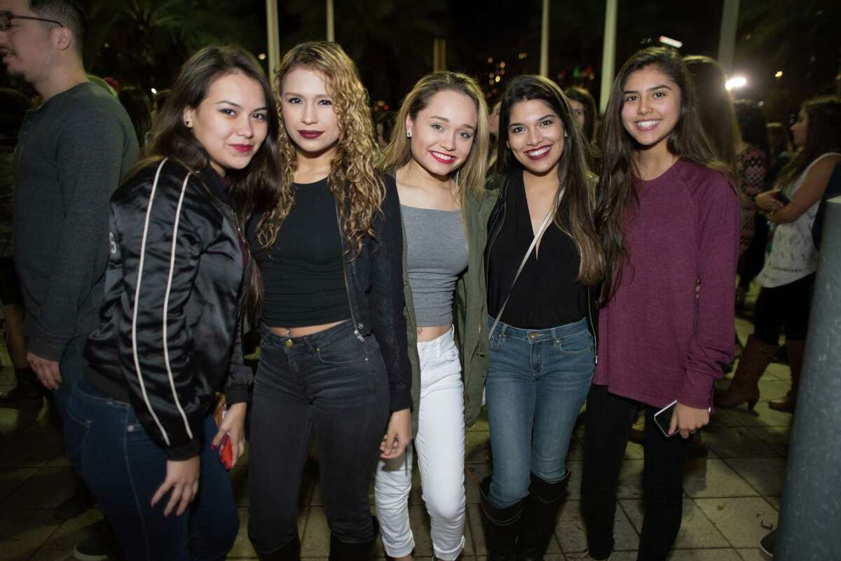 Fans at the Toyota Center for The Weeknd in Downtown on Sunday, Dec. 13, 2015.