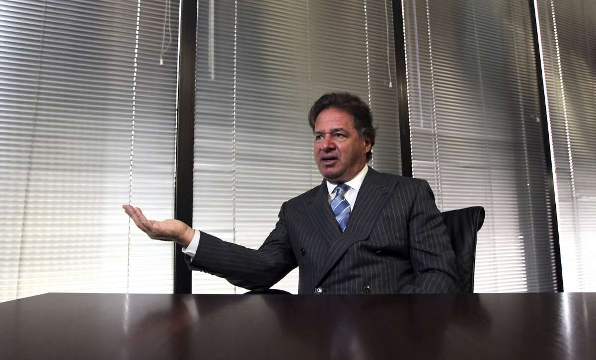 Charif Souki, CEO of Cheniere Energy speaks during an interview, Cheniere is among Houston's top workplaces, according to a Chronicle survey. Continue clicking to see the highest paid CEOs in the energy industry.