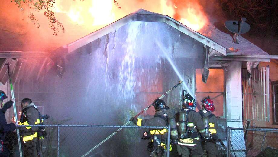 An 80-year-old man died Monday morning after his home erupted in flames on the Northwest Side Photo: 21 Pro Video