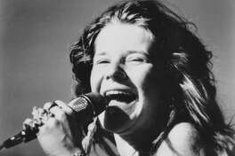 This is a 1969 photo of rock singer Janis Joplin.  (AP Photo)