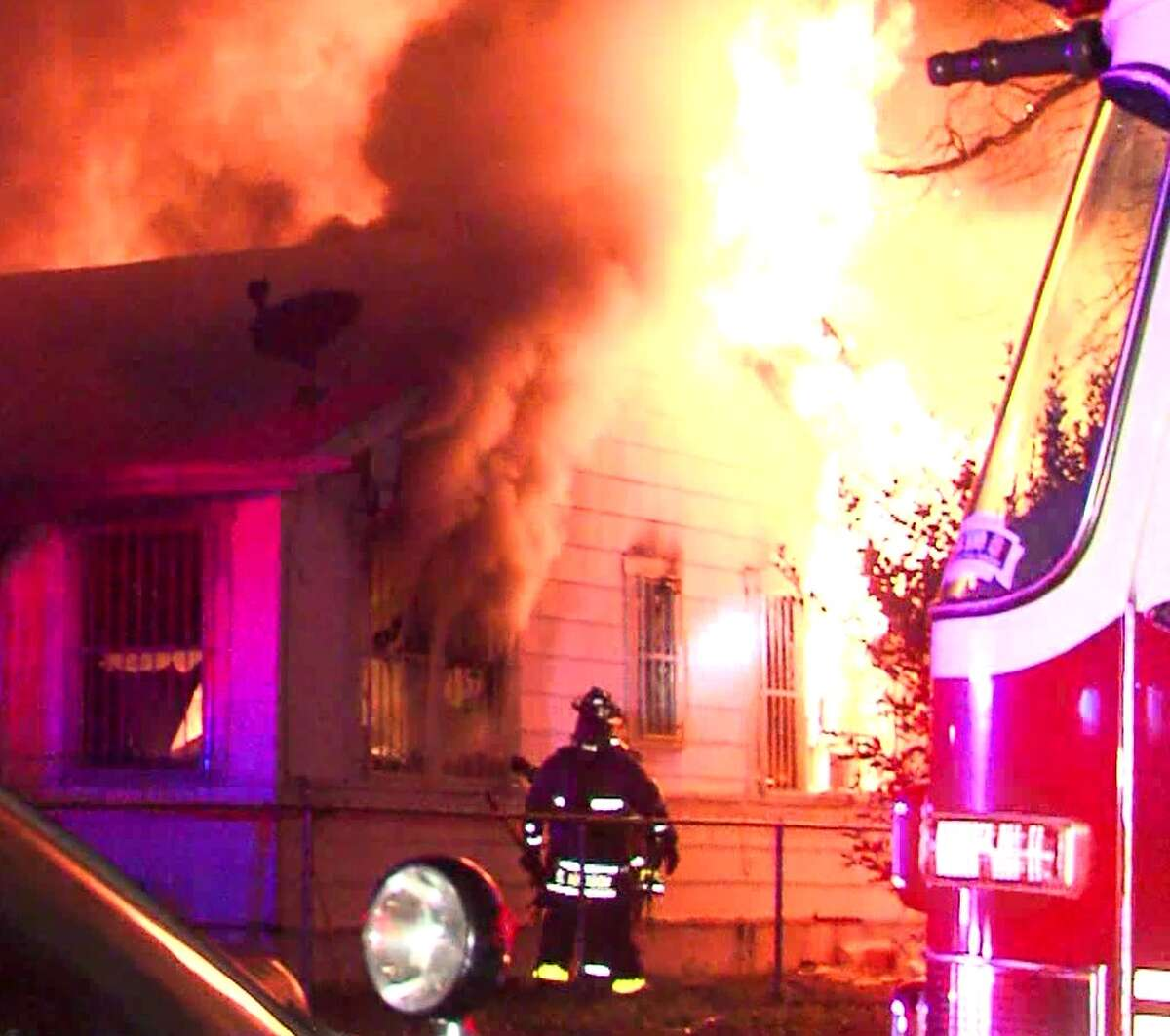 An 80-year-old man died Monday morning after his home erupted in flames on the Northwest Side.