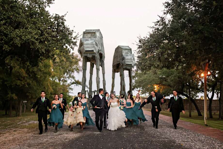 "Daniel Grove, a photographer based in Universal City, hopes to become known as the ""nerdtographer of San Antonio"" for his ""Star Wars""-themed wedding and engagement photo shoots. Photo: Courtesy Of Daniel Grove Photography / Daniel Grove Photography"