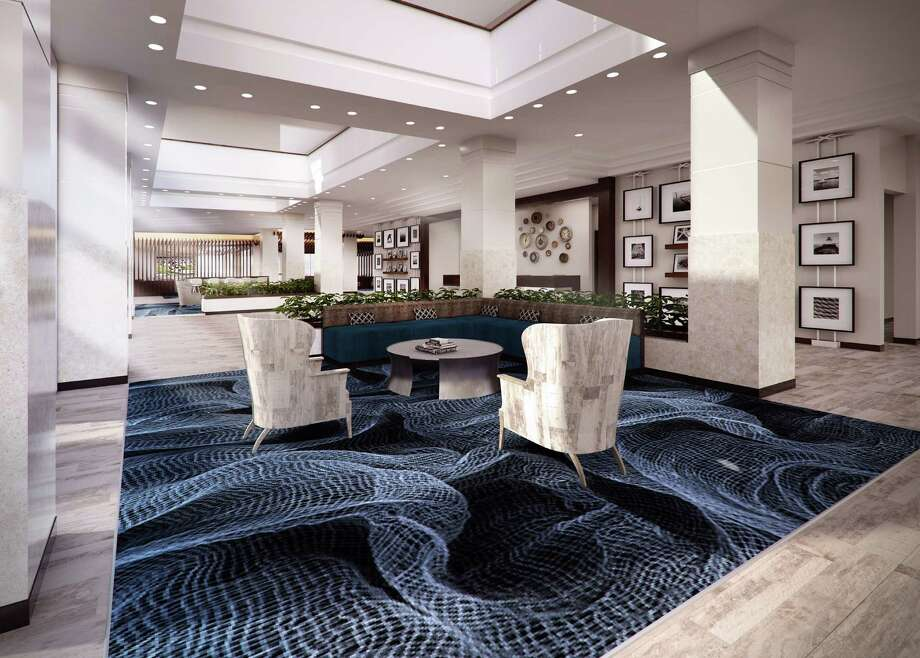 Rendering of the new lobby area planned at South Shore Harbour Resort and Conference Center in League City. Dallas-based Flick-Mars is handling the interior design. The hotel is undergoing a multimillion dollar renovation.