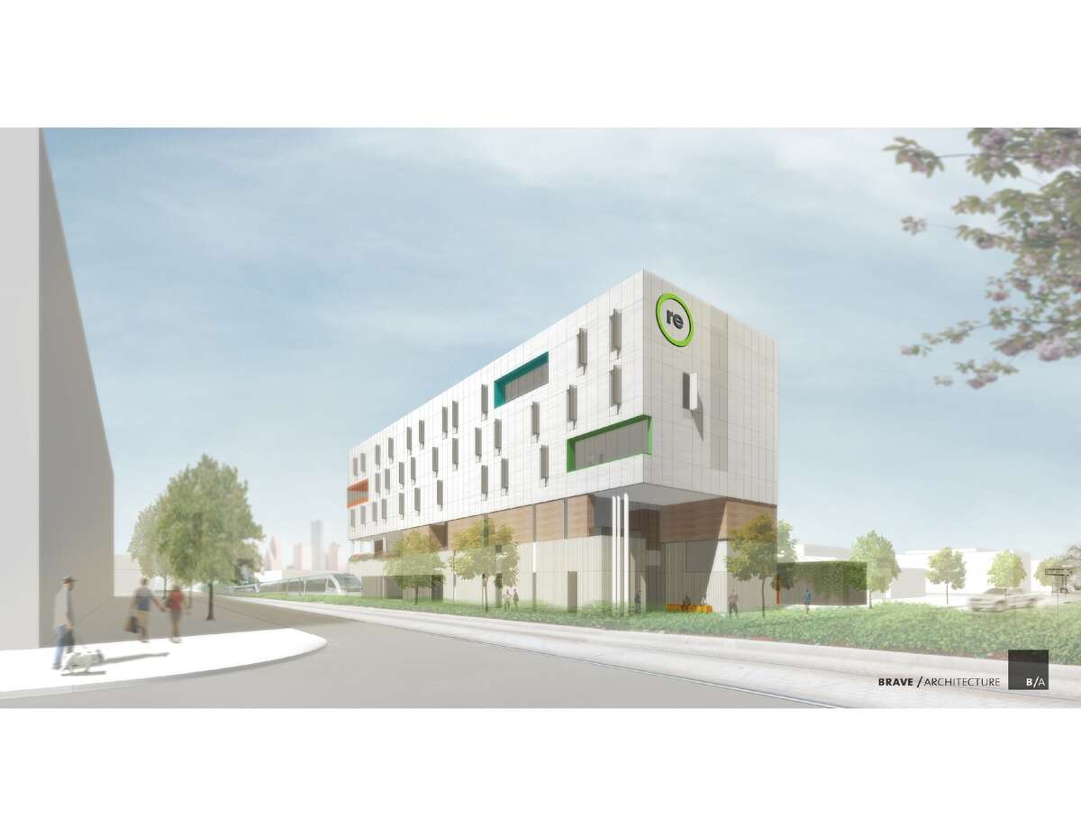A rendering of the new Recenter building in Midtown. (Recenter/Brave Architecture)