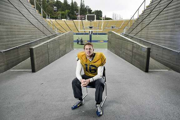 Cal quarterback Jared Goff poses for a portrait at UC Berkeley's Memorial Stadium in Berkeley, CA Sunday, December 13, 2015.