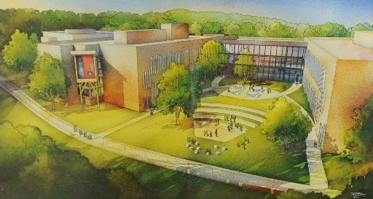 Artist's rendering of the new Sandy Hook Elementary School, scheduled to open in Fall 2016.