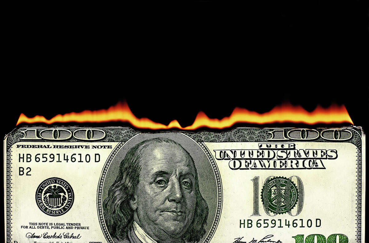America's 20 biggest wastes of money Setting your tax dollars inside a dumpster and lighting it on fire would be too efficient for a government. So instead, the feds are spending your hard earned money on projects like these. (Source: GoBankingRates)