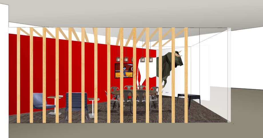 """Rendering of the bull pen planned for """"The Headquarters"""". (Courtesuy of Goldking Realty)"""