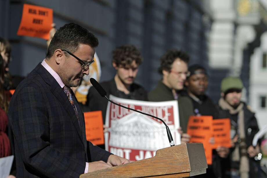 Supervisor David Campos  at City Hall during a press conference  opposing the proposal for a new jail in San Francisco on Monday, December 14,  2015 in San Francisco, Calif. Photo: Lea Suzuki, The Chronicle