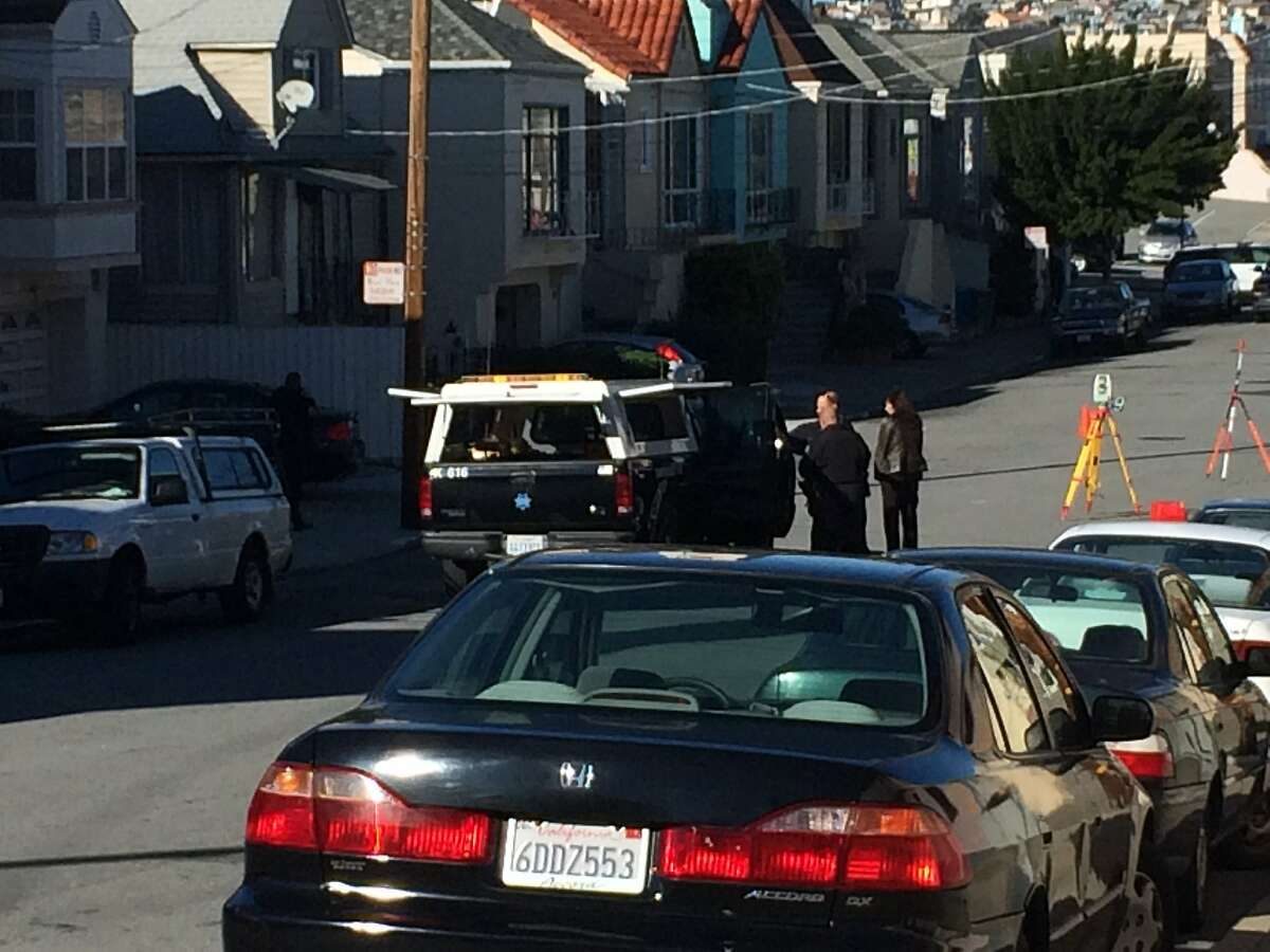 San Francisco police investigated a crash Monday morning in which a 63-year-old bicyclist was hit and killed by a car in the city's Portola neighborhood.