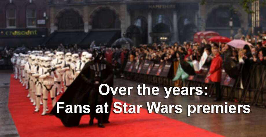 "From even as far back as 1977, fans of the ""Star Wars"" movie series are famous for their passion and dedication, and no where is that more on display than in line for the movie premiers. Photo: LEFTERIS PITARAKIS, AP Photo/Lefteris Pitarakis / AP"
