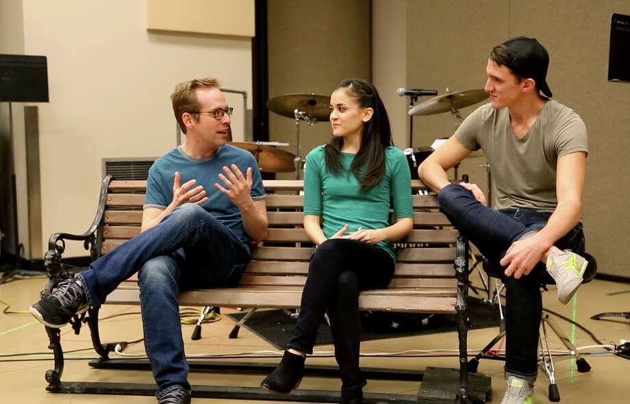"Ian Lowe, left, Andrea Goss and Zach Cossman star in ""Striking 12."" Photo: Courtesy TUTS"