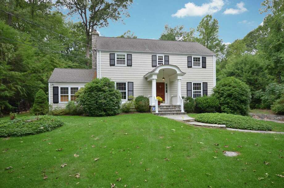 This Colonial on Shady Knoll Lane in New Canaan was built in 1956 and renovated in 2005. Photo: Contributed / Contributed Photo / New Canaan News