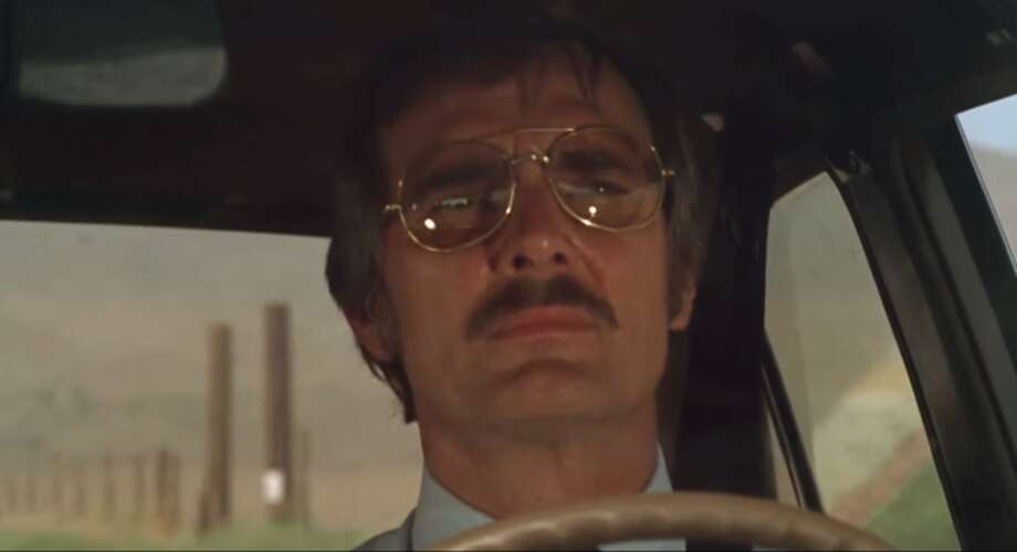 """Duel,"" starring Dennis Weaver (1971). ""The old-school piece of advice was, 'Hey, kid. You're making a big mistake shooting this thing on location. Why don't we just go back to the studio where it's safe and quiet and controllable?' And I insisted that the audience wouldn't believe a truck was chasing a car unless it was a real truck, a real car, and a real highway.""Source: Buzzfeed"