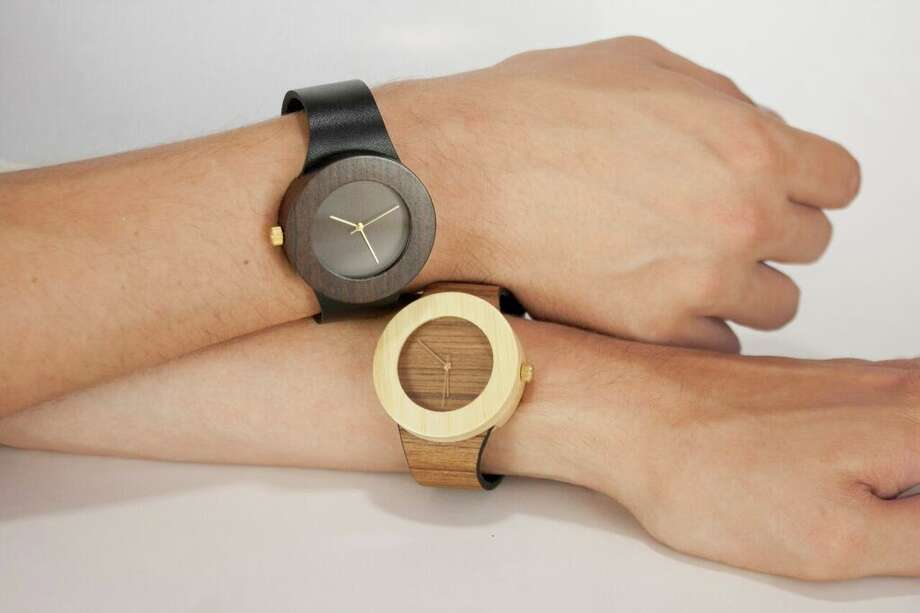 Teak and bamboo watches by Analog Watch Co. are available at the San Antonio Museum of Art gift shop. Photo: Courtesy Photo / Courtesy Photo