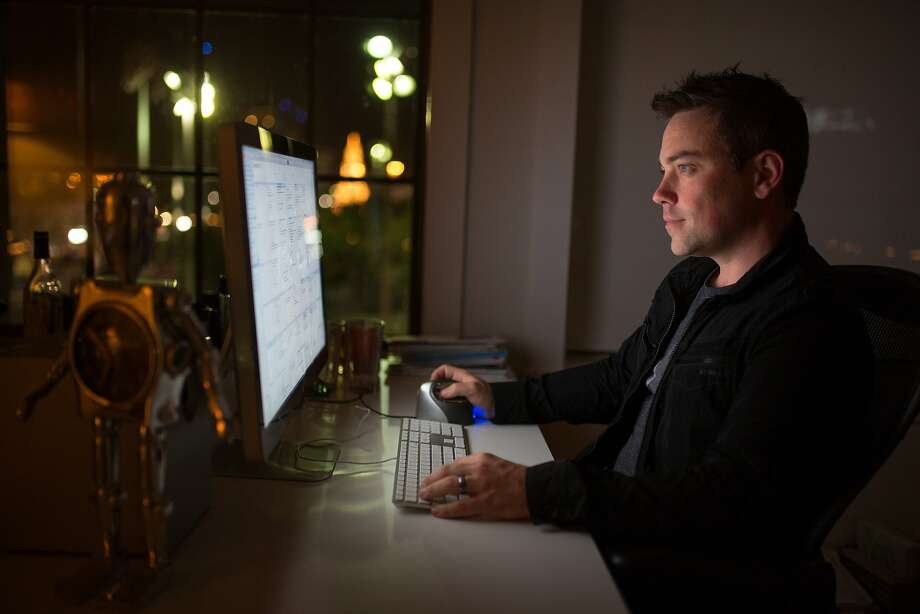 Kevin Baillie, co-founder of Atomic Fiction, works at his desk on Friday, Dec. 11, 2015 in Oakland, Calif. Photo: Nathaniel Y. Downes, The Chronicle