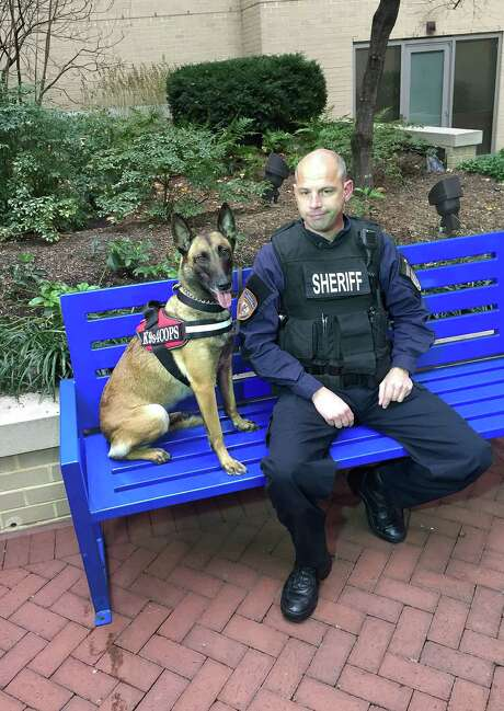 Harris County Sheriff's Deputy Ted Dahlin, whose K9 partner was killed in 2010 and helped inspire the nonprofit K9s4COPs, will represent the nonprofit at a ceremony today at the French Embassy. Photo: (Photo Courtesy K9s4COPs) / (Photo courtesy K9s4COPs)