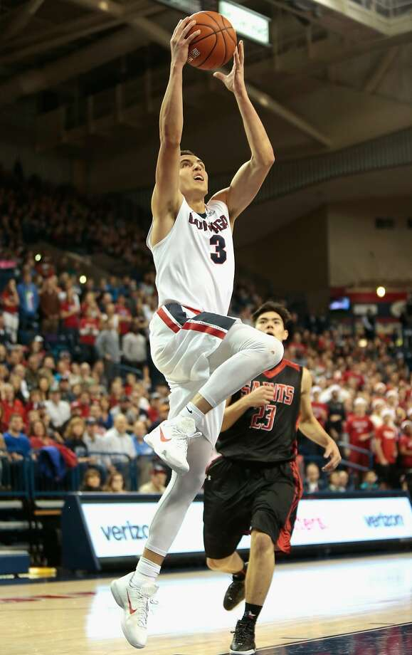 Gonzaga's Kyle Dranginis takes it to the goal in the Bulldogs' romp over Division II St. Martin's. Photo: William Mancebo, Getty Images