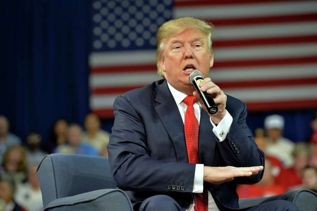At a campaign event Monday, Republican presidential candidate Donald Trump said that even though he hates some reporters, he won't kill them.