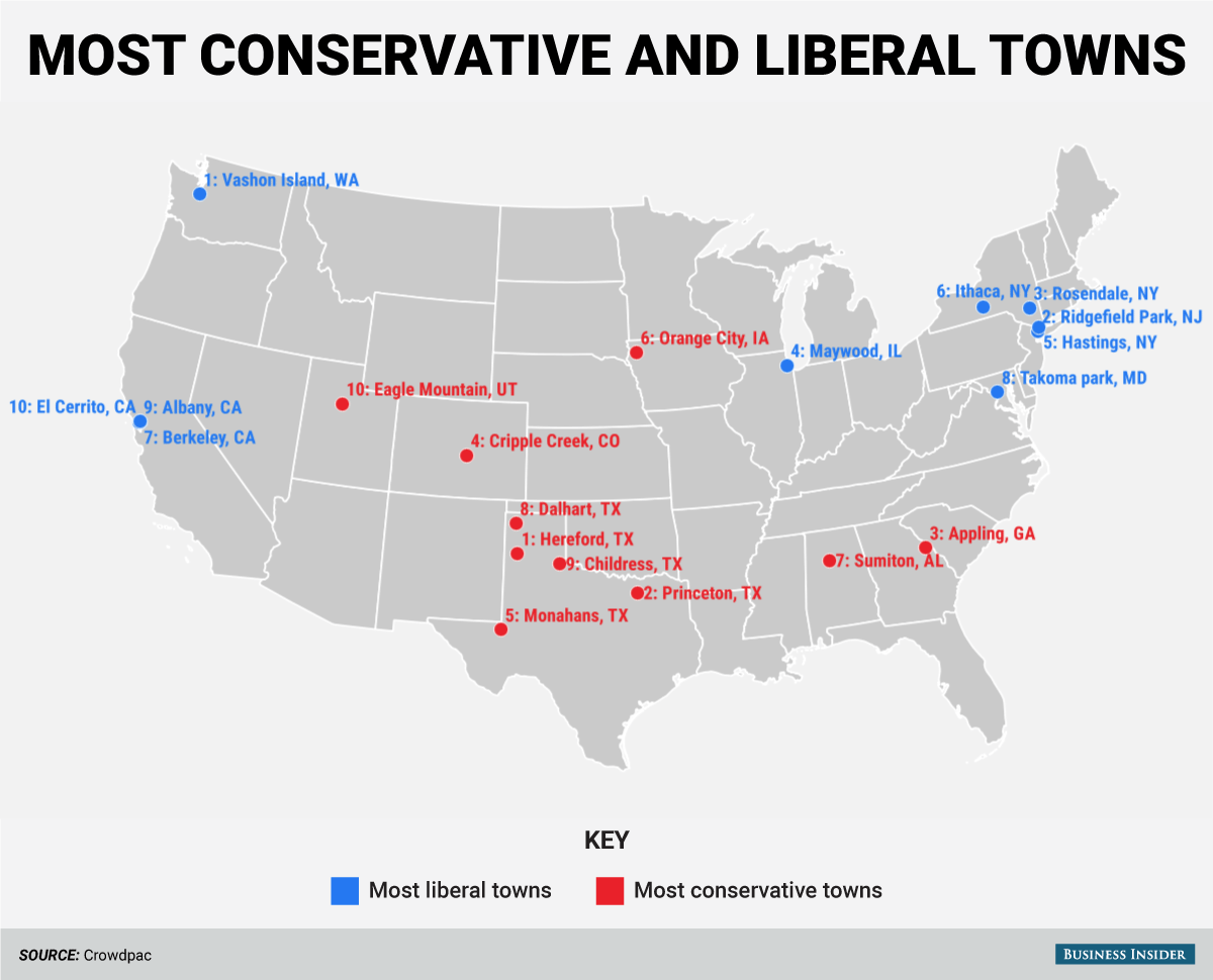 These three Bay Area enclaves made the list of 10 most liberal
