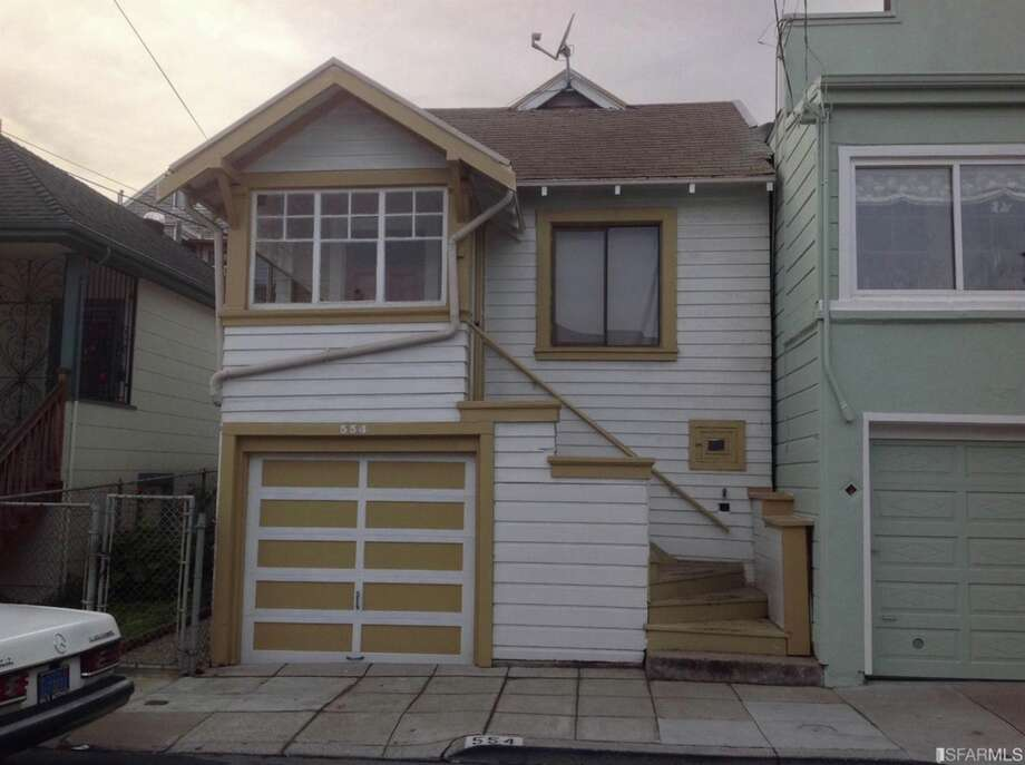 A two-bedroom Bernal Heights fixer hit the market in Dec. 2015 with a listing price of $549,000. This might seem like an unbelievable deal in this hot hood where the average home costs $1.3 million, but it's important to understand that this property is a fixer-upper. Photo: Courtesy Richard Sarro