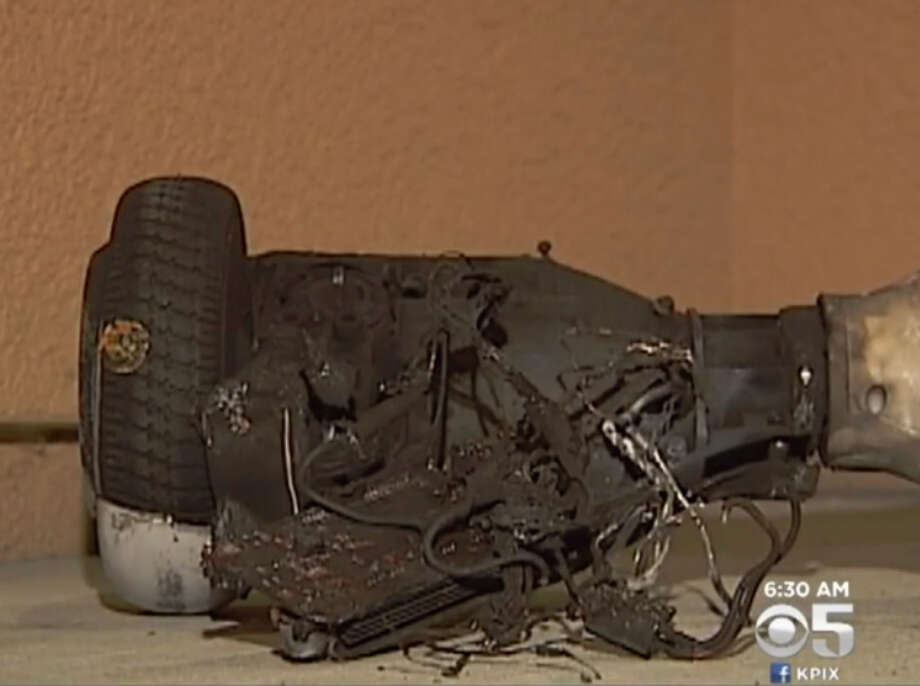 A new hoverboard exploded into flames at a Brentwood home on Monday night. Photo: CBS San Francisco