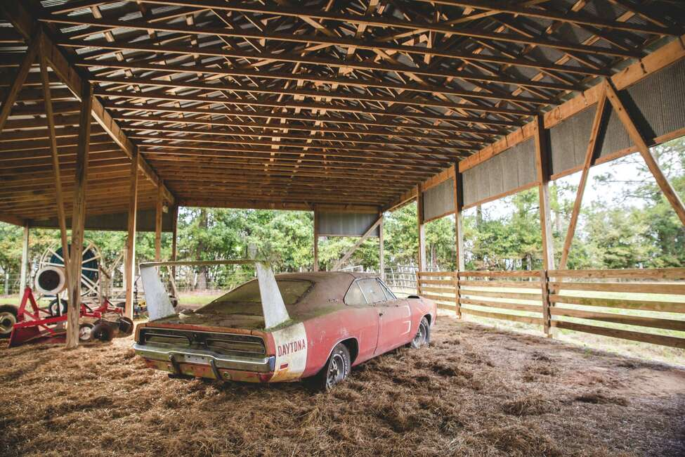 This 1969 Dodge Daytona, an Alabama barn find, will be auctioned by Mecum Auctions in Kissimmee, Florida in January 2016.