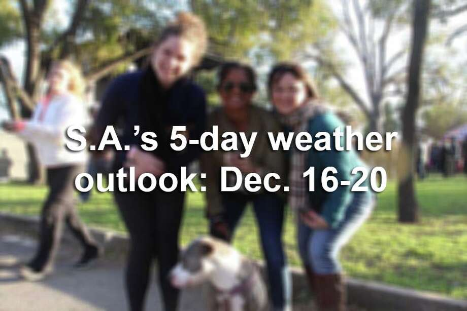 San Antonio's 5-day weather outlook, according to the National Weather Service. Photo: San Antonio Express-News