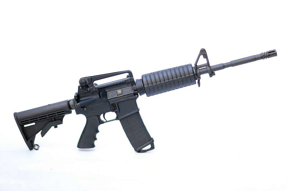 Photo illustration of a Rock River Arms AR-15 rifle similar to the weapon used in the Pulse Nightclub mass shootings. Photo: Joe Raedle, Getty Images