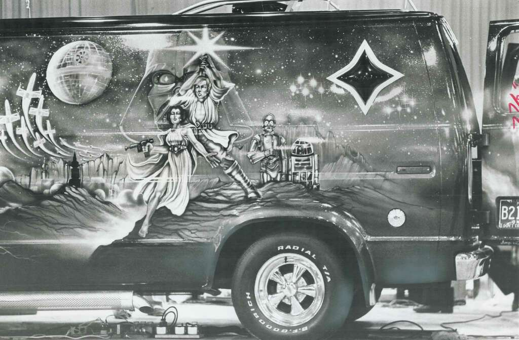 "Most popular theme for van murals at the 1977 show was ""Star Wars."" Photo: Bezant; Graham, Getty Images / Toronto Star"