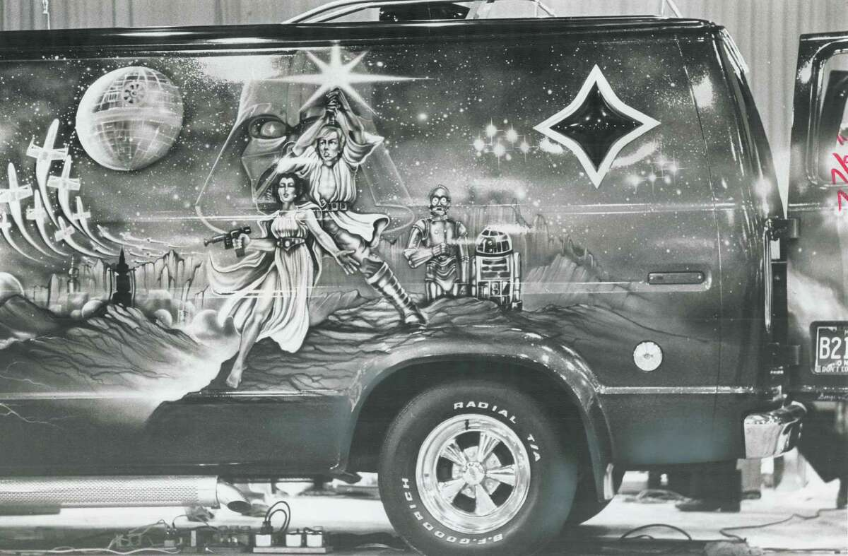 """Most popular theme for van murals at the 1977 show was """"Star Wars."""""""