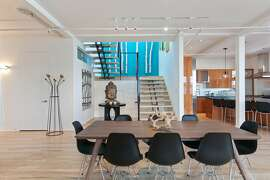 Unit M305 at 2169 Folsom St. in San Francisco's Mission District is a live-work multi-level loft with four bedrooms and three and a half bathrooms.
