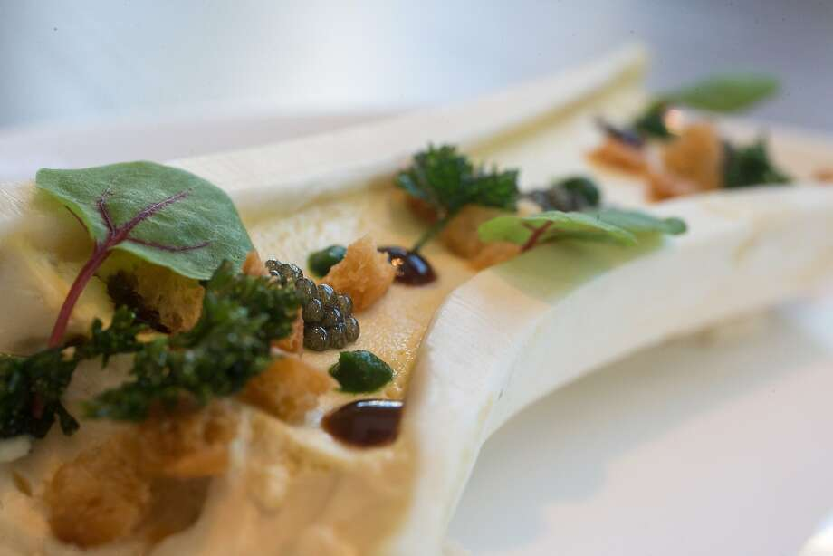Bone marrow custard at Volta. Photo: Nathaniel Y. Downes, The Chronicle
