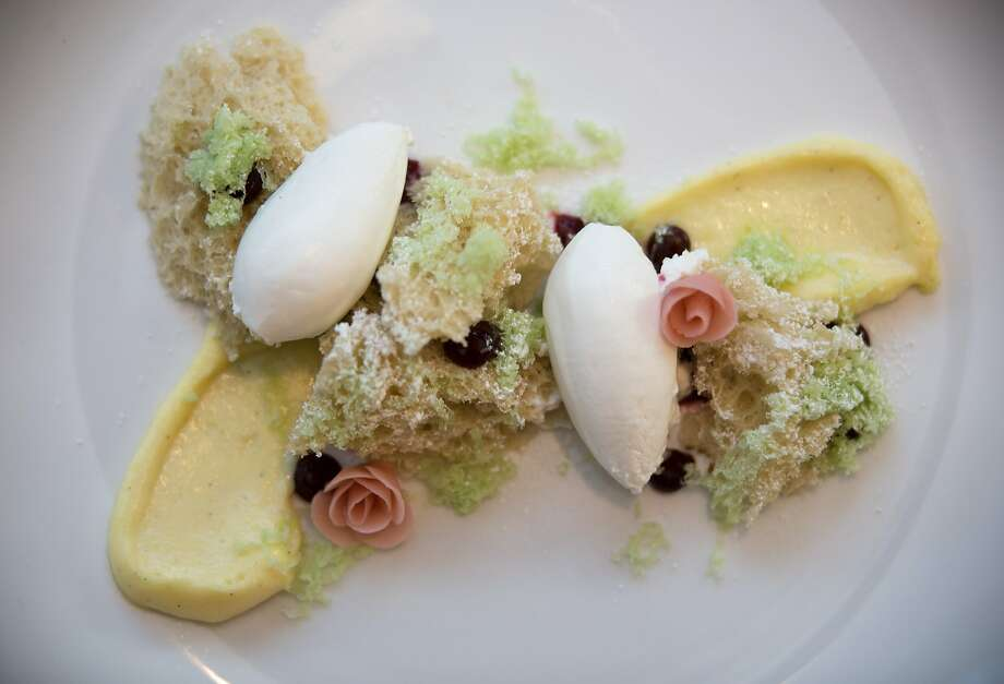 Princess cake, a signature dessert from Volta. Photo: Nathaniel Y. Downes, The Chronicle