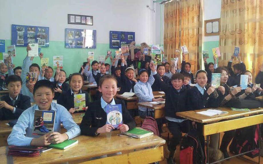 Recent Darien Book Aid recipients in Mongolia. Photo: Contributed / Contributed Photo / Darien News