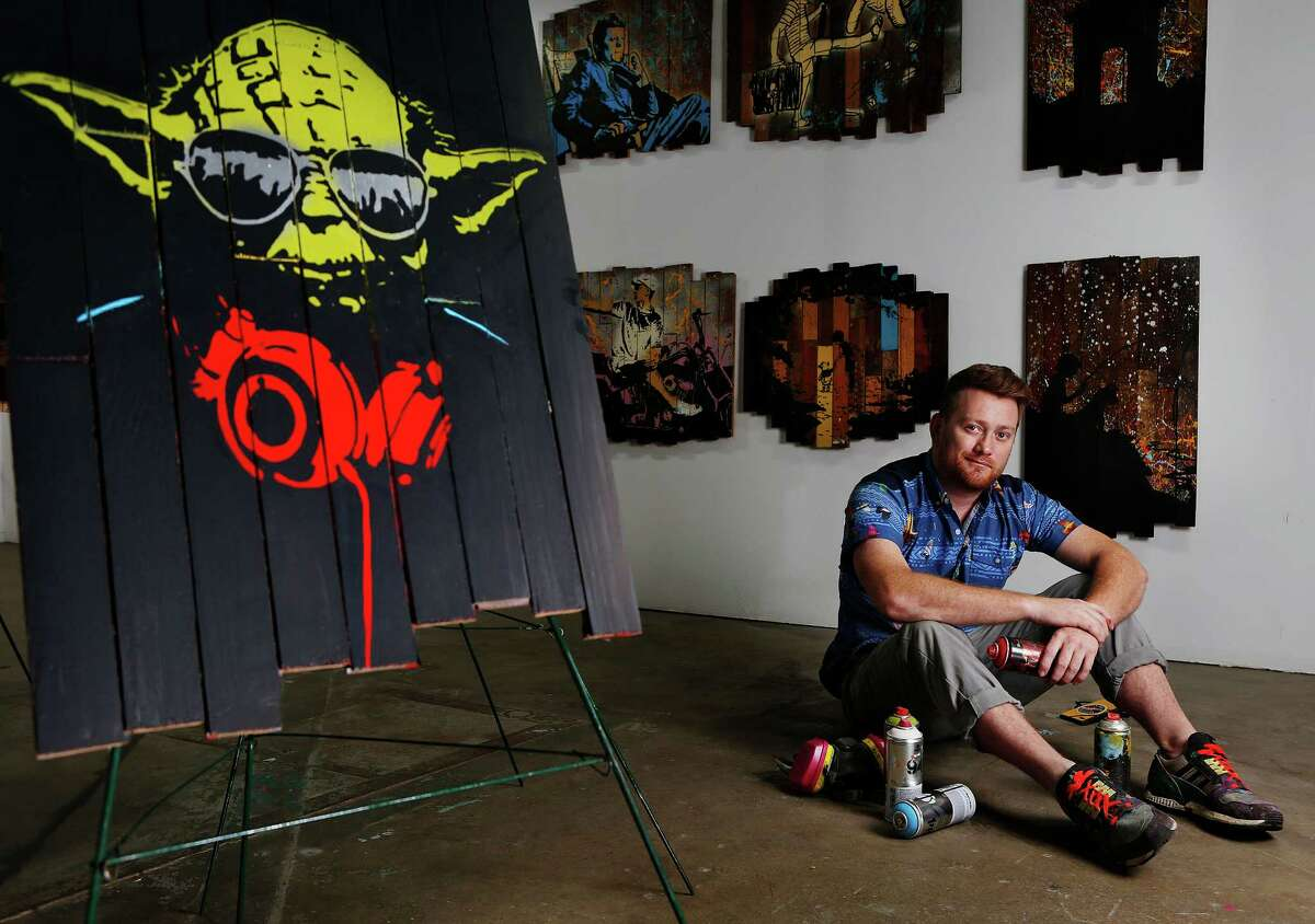 Artist Jon Garner paints a variety of themes, but in demand right now are his Star Wars paintings.