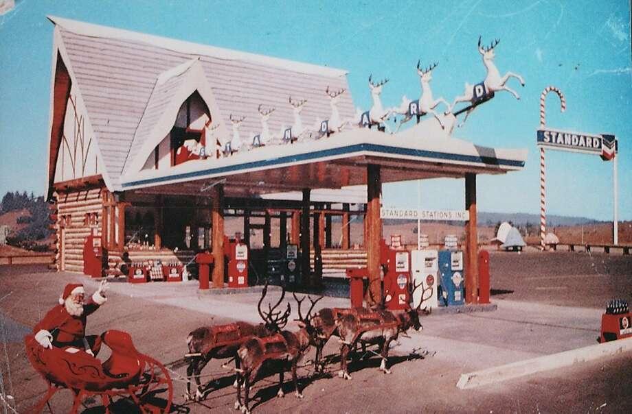 Santa's Village gas station Photo from Santa Cruz Public Libraries, Scotts Valley branch via the Online Archives of California(OAC) Photo: Ken Stone, Santa Cruz Public Library