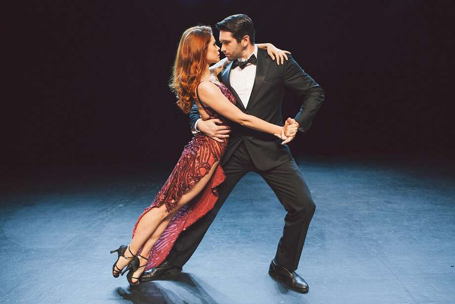 """Anna Trebunskaya and Dmitry Chaplin in Luis Bravo's """"Forever Tango,"""" playing at San Francisco's newly remodeled Herbst Theatre. Photo: Alexa Sonner"""