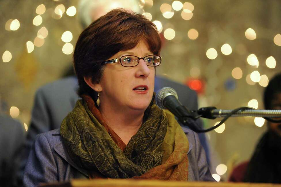 Mayor Kathy Sheehan announces major step to implement a new Law Enforcement Assisted Diversion (LEAD) Program to address root causes of crime during a press conference at City Hall on Tuesday, Dec. 15, 2015 in Albany, N.Y. (Lori Van Buren / Times Union)