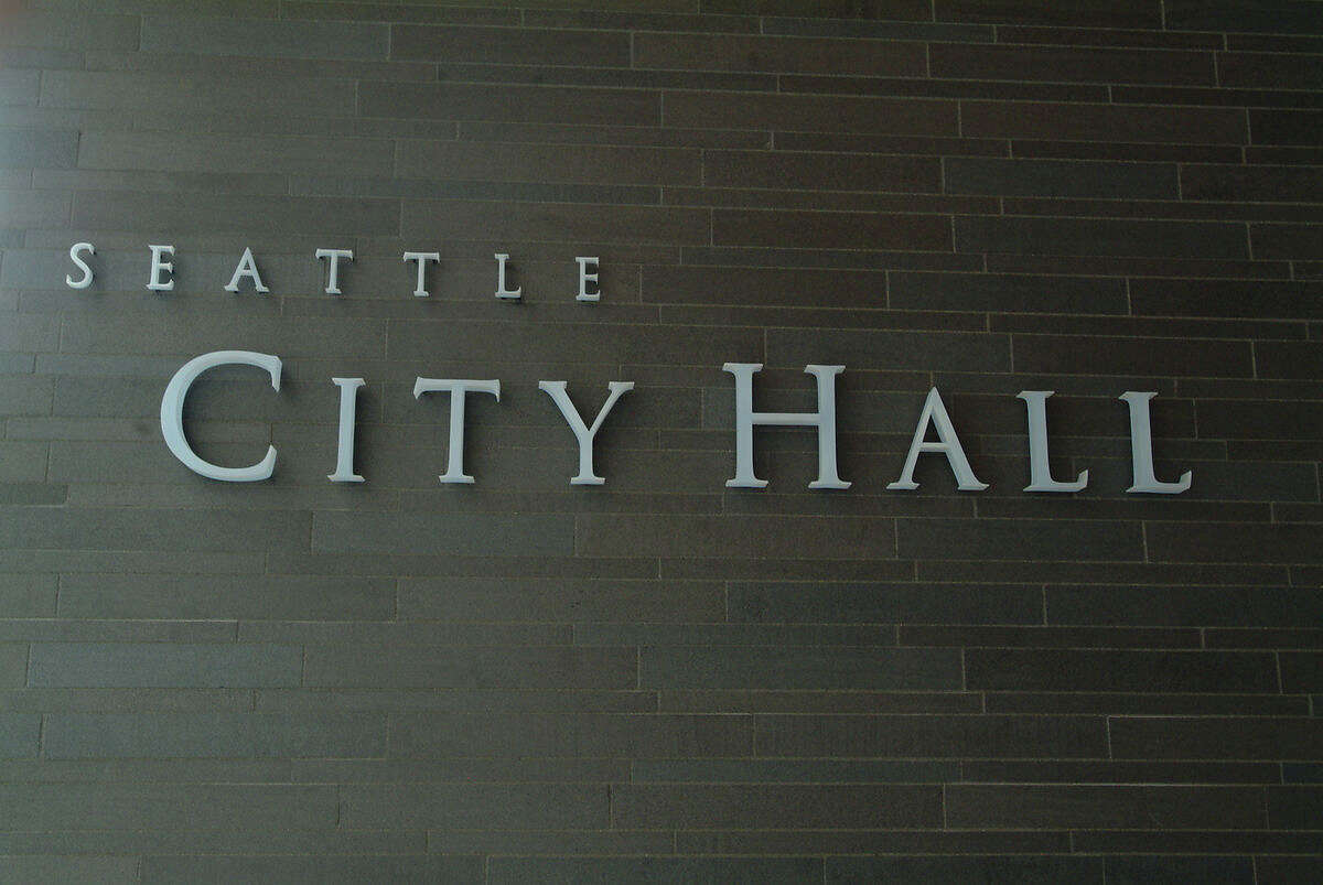 Seattle's City Hall, pictured Aug. 11, 2003.