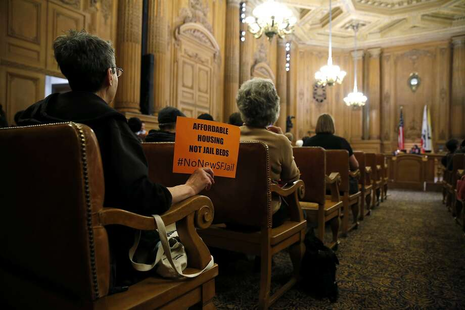 Plans for a new jail were rejected at the Board of Supervisors meeting in San Francisco City Hall on Dec. 15, 2015. Photo: Connor Radnovich, The Chronicle