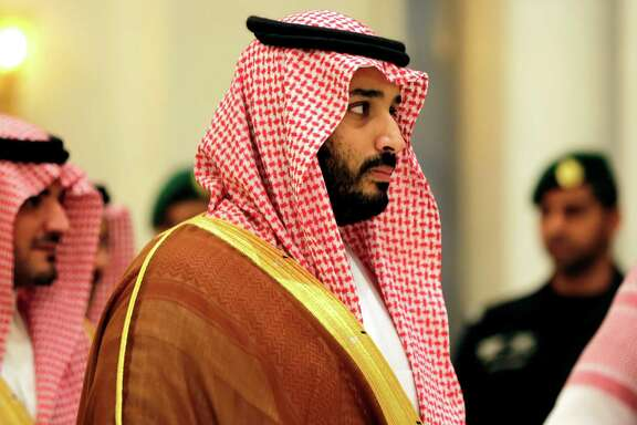 "In this Nov. 11, 2015, photo, Saudi Arabian Deputy Crown Prince Mohammed bin Salman attends a summit of Arab and Latin American leaders in Riyadh, Saudi Arabia. Saudi Arabia said Tuesday, Dec. 15, that 34 nations have agreed to form a new ""Islamic military alliance"" to fight terrorism with a joint operations center based in the kingdom's capital, Riyadh. Mohammed bin Salman said the new Islamic military coalition will develop mechanisms for working with other countries and international bodies to support counterterrorism efforts. (AP Photo/Hasan Jamali)"