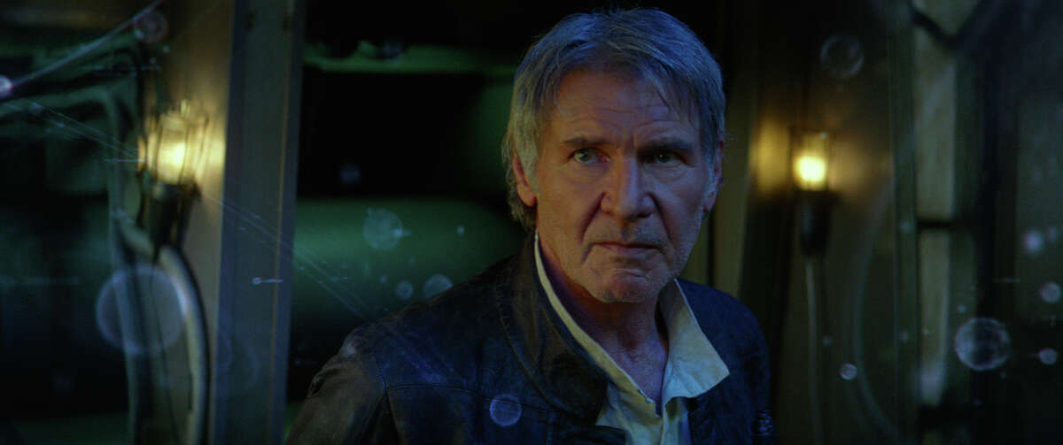 """Han Solo (Harrison Ford) in a still frame from """"Star Wars: The Force Awakens."""""""